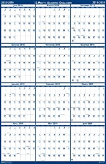 product image for House of Doolittle 2018-2019 Laminated Academic Wall Calendar, Reversible, 24 x 37 Inches, July - June (HOD395 19)
