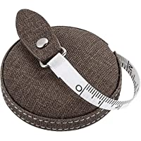 Kiemeu Retractable Tape Measure For Body measurement,Retractable Tailors Tape Measure For Sewing And Knitting,Brown