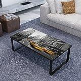 vidaXL Table Basse Rectangulaire en Verre Imprimé