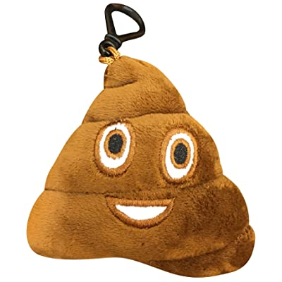 Emoji Universe: Talking Emoji Backpack Clips, Key Chains; Plush Keychains Make FUNNY SOUNDS! (Choice of Emoji - Poop): Office Products