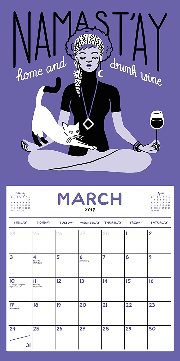Amazon.com: Namaste, Bitches Wall Calendar 2019 [12