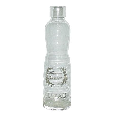 Better & Best Botella de Agua para Nevera, Cristal, 7,5 x 7,5 x 28 ...