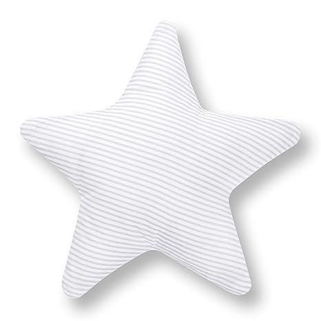AMI Lian® Cojín Estrella rayas gris decorativo Cojín ...