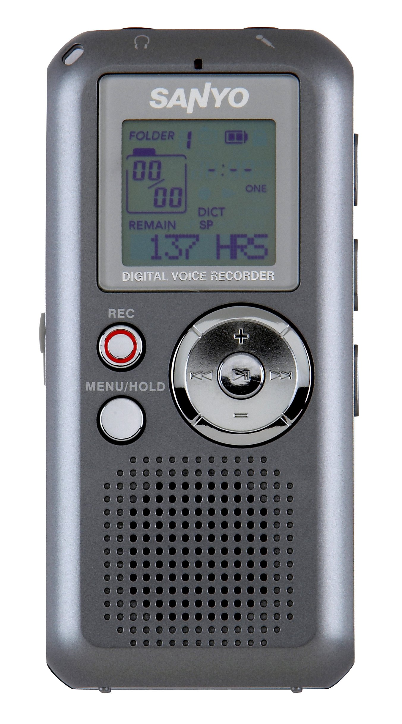 SANYO ICR-FP550E Digital MP3 Voice Recorder with eneloop batteries and USB battery charger