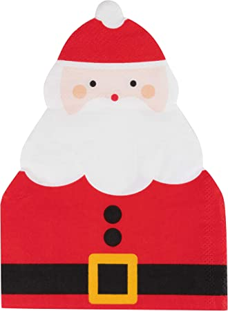 20 x Paper Napkins Christmas Santa Claus for  PARTY LUNCH and TABLE 57