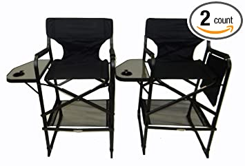 Charmant TWO PACK World Outdoor Products Lightweight PROFESSIONAL EDITION Tall  Directors Chair,Side Table,Cup