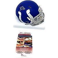 $109 » Darius Leonard Indianapolis Colts Signed Autograph Rare AMP Speed Mini Helmet JSA Witnessed Certified