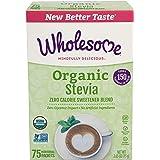 Wholesome Organic Stevia, Zero Calorie Sweetener Blend, Non GMO & Gluten Free, 1 g (Pack of 75)