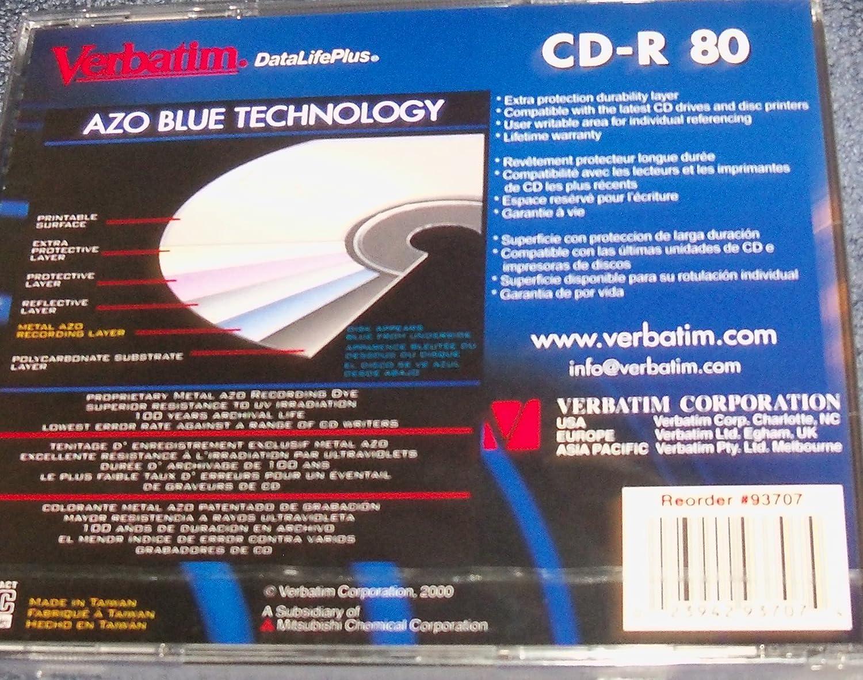 Amazon.com: Cd-r 80 Verbatim Datalifeplus 1x-16x Speed: Home ...