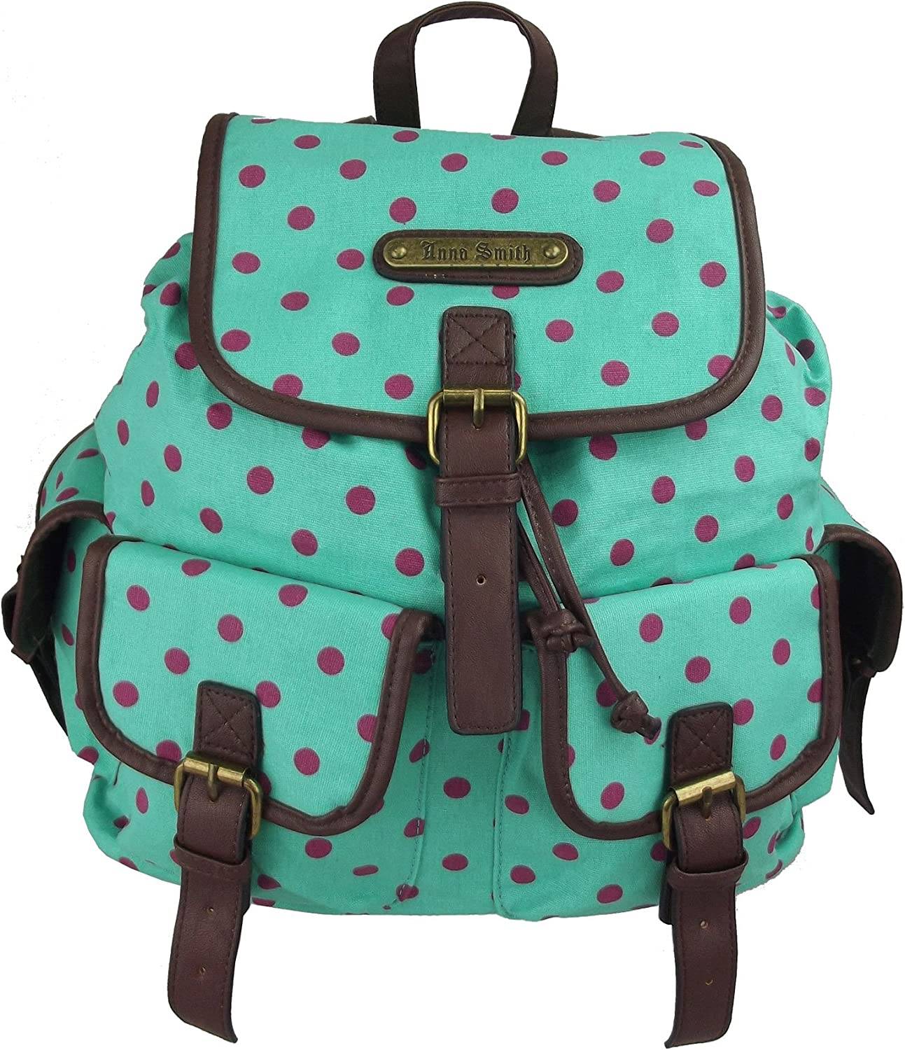 Anna Smith Cosmos Ladies Canvas Backpack and Polka Dot Variation