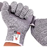 STAR JOINING Cut Resistant Gloves, Food Grade Level 5 Protection,Safety Kitchen and Outdoor Cut Gloves(Medium)