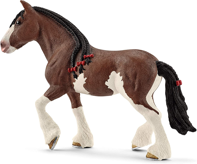 Schleich- Figura de Yegua Clydesdale, Colección Horse Club, 16.1 cm (13809)