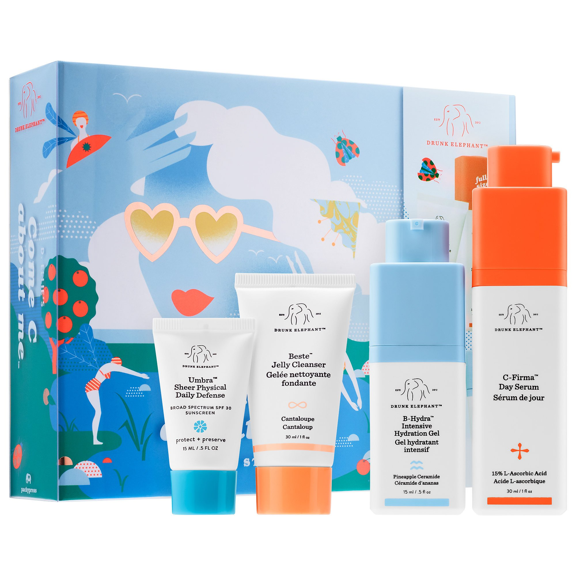 DRUNK ELEPHANT Volume 2: Come C About Me/C-Firma Day Serum/B-Hydra Intensive Hydration Gel