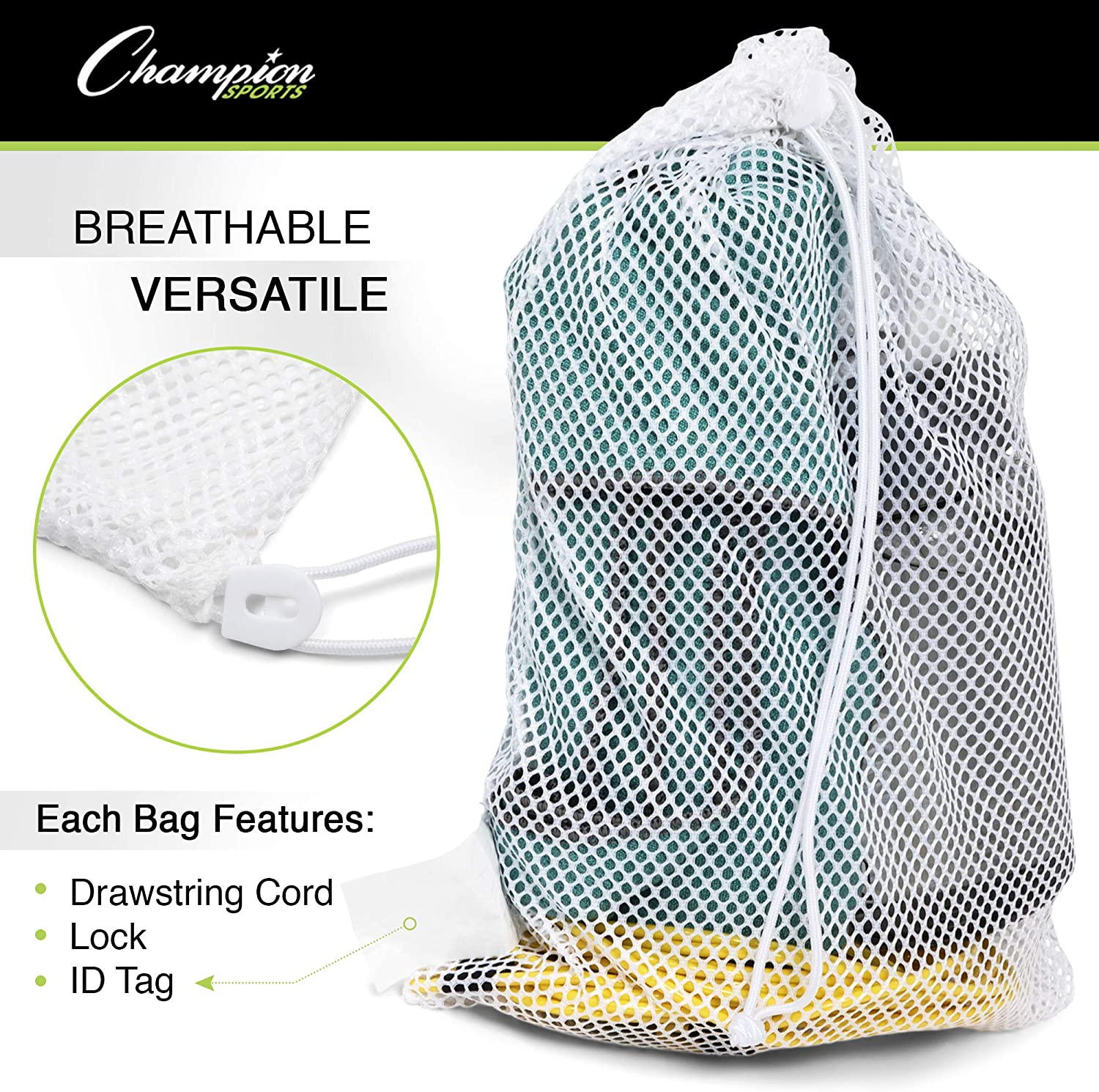 Stuff Sac idéal pour le camping Gadgets made in USA. Cordon de Stuff Sack Mesh