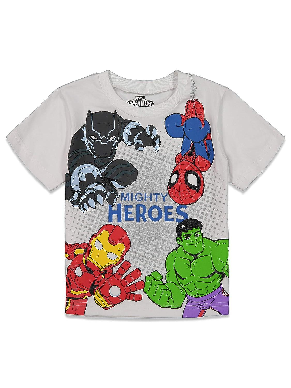Marvel Avengers Boys Short Sleeve T-Shirt and Mesh Shorts Set