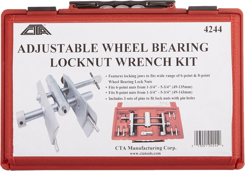 CTA Tools 4244 Adjustable Wheel Bearing Locknut Wrench Kit