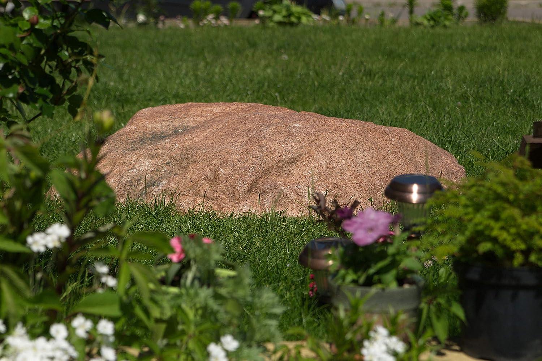 Piedra Decorativa Hueca de Tamaño Grande para el Jardín Exterior, Roca Artificial para el Diseño y Campo de Patio, Oculta Utilidades, Cubre 100 Centímetros XL-01 (Rojo): Amazon.es: Jardín