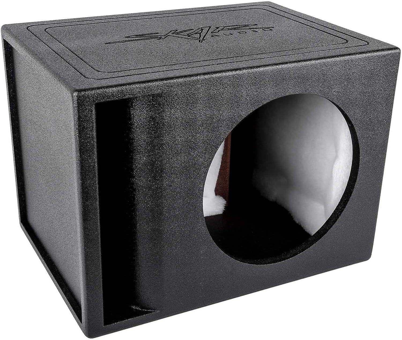 "Skar Audio AR1X12V Single 12"" Universal Fit Armor Coated Ported Subwoofer Box with Kerf Port"