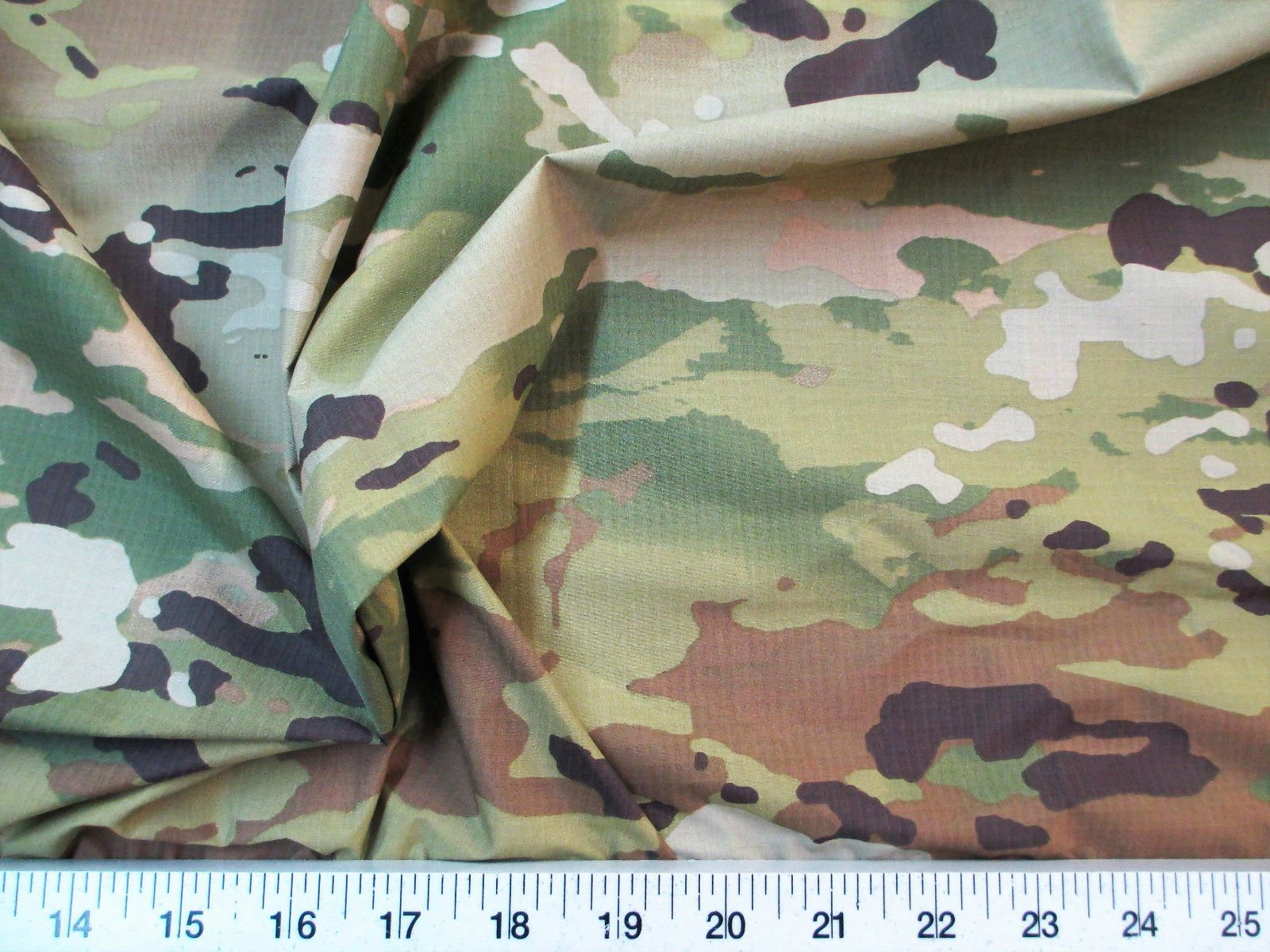 Paylessfabric 10 Yard Lot Fabric Ripstop Rip Stop Nylon Water Resistant Woodland Camouflage RS32