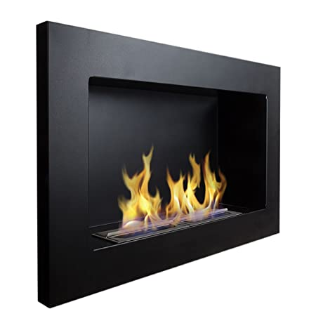 Noble 650x400 Gel -ethanol fireplace Black matte Gel fireplace Bio ...