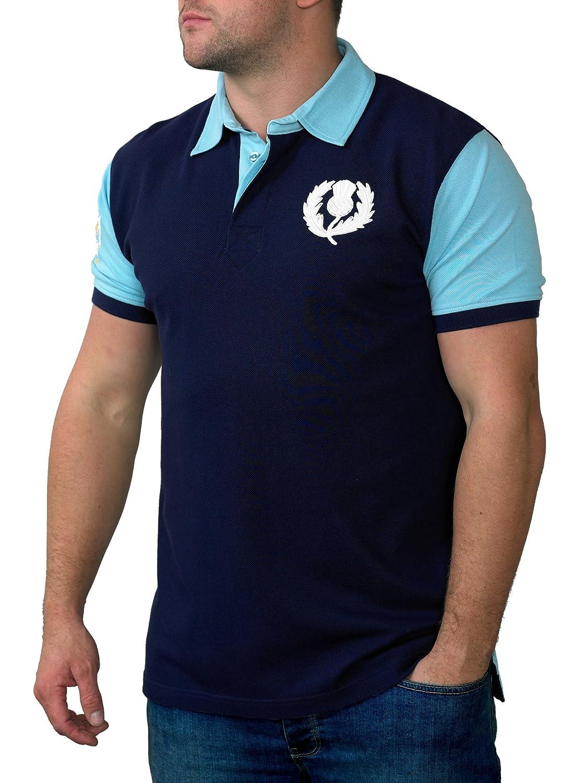 Ellis Rugby Mens Scottish Polo Shirt Amazon Clothing