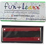 "Fun + Learn N/S Pointed Great Quality Bar Magnet 3"" (Pack Of 2) - Red"
