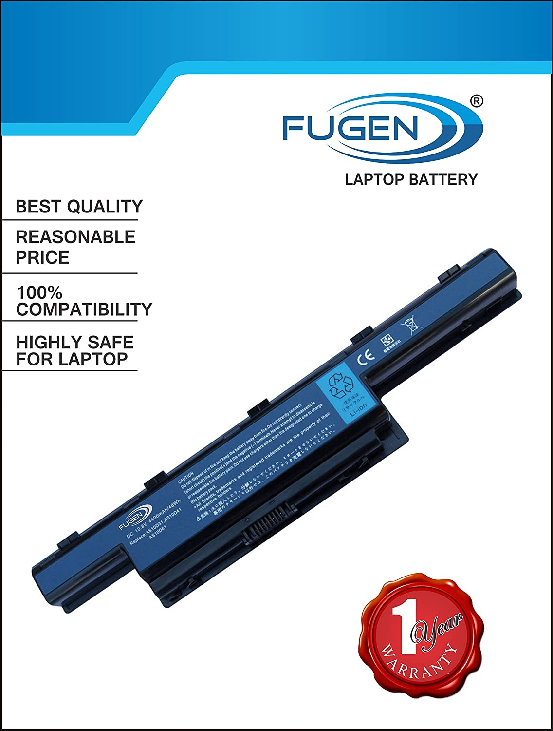Fugen 6 Cell 4000 Mah Laptop Battery For Acer Aspire Series Buy Adaptor Charger 4739 4738 4741 4750 4736 4752 4740 Online At Low Price In India