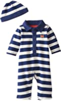 Little Me Baby Boys' Stripe Coverall and Hat