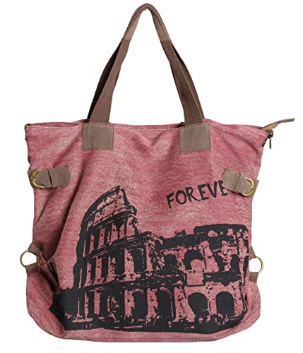 239415d11d5d Aibag Retro Oversized Rome Building Canvas Hobo Travel Weekend Shoulder  Handbag