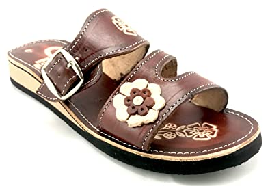 Rampos MX Womens Mexican Handmade Leather Huaraches Sandals Sandalias Mujer  Mexicano Sahuayo Mexico Broche (6