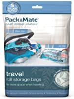 Packmate ® Bumper Value Pack 8 Roll Up Travel Vacuum Space Saver Storage Bags For Holidays, Travelling, Large Suitcases & Rucksacks