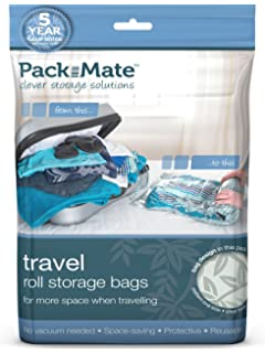 Packmate ® 2 Roll Up Travel Vacuum Space Saver Storage Bags For Holidays,  Travelling,