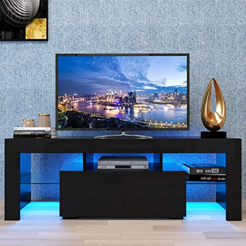 jeerbly Modern TV Stand Entertainment Center