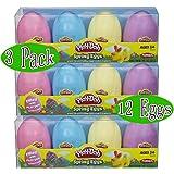 Play-Doh Spring Eggs 4-Pack Gift Set Bundle (12 Eggs & 24oz Total) - 3 Pack