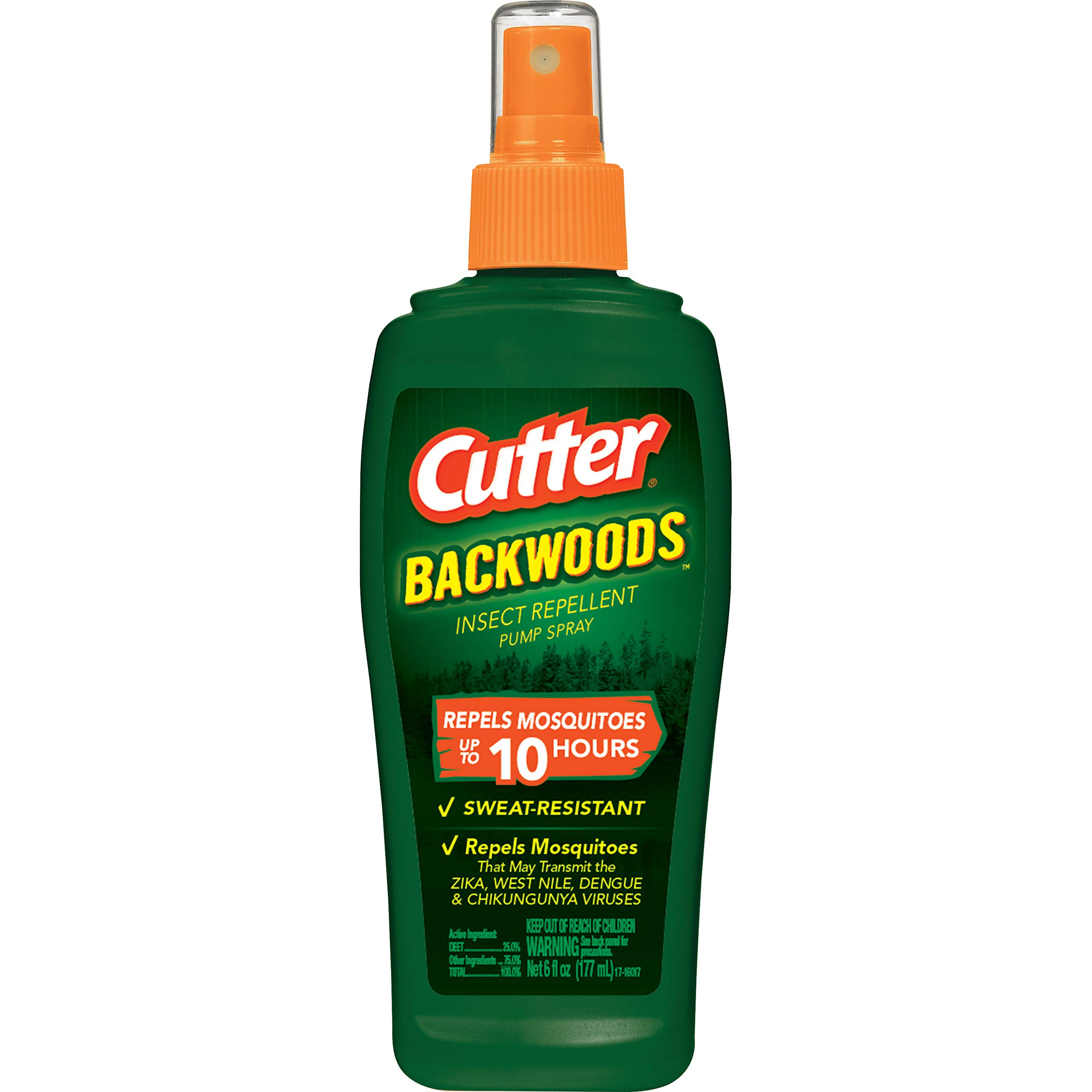 Cutter Backwoods Insect Repellent Pump Spray, 6-Ounce, 12-Pack by Cutter (Image #1)