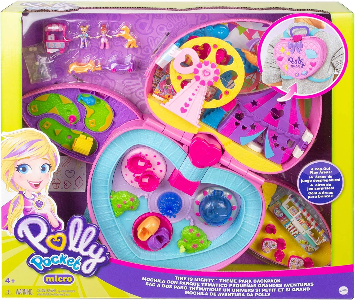 4 Tiny Is Mighty Theme Park Backpack Age Polly Pocket