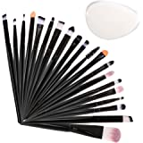 SGM® Profesional Makeup Brush Set with Travel Bag and Silicon Sponge, 20Pcs