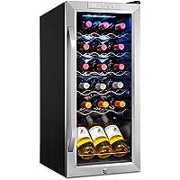 Ivation 18 Bottle Compressor Wine Cooler Refrigerator w/Lock   Large Freestanding Wine Cellar For Red, White, Champagne…