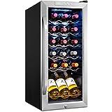 Ivation 18 Bottle Compressor Wine Cooler Refrigerator w/Lock | Large Freestanding Wine Cellar For Red, White, Champagne or Sp