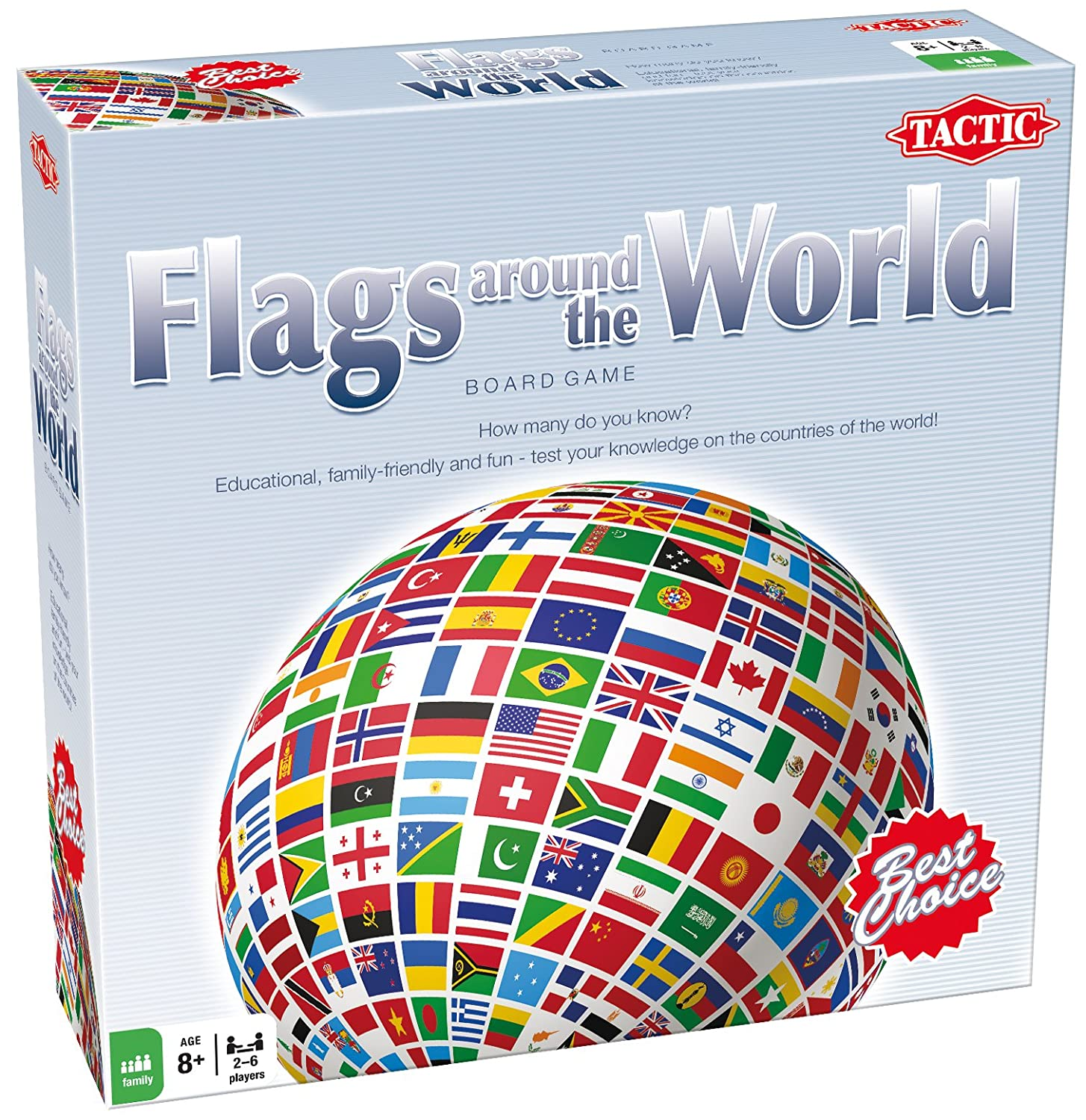 Tactic Games Flags Around The World Tactic Amazoncouk Toys - Countries of the world game