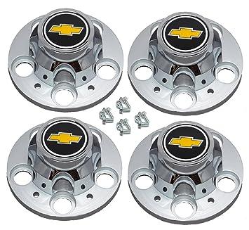 Set de 4 mm Nuevos con licencia Chevrolet Chevy C1500 camión Blazer Suburban Rally de 15 pulgadas y 5 Lug Centro de rueda Caps: Amazon.es: Coche y moto