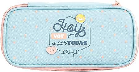 Mr. Wonderful Hoy Voy a por Todas Estuche, Multicolor, Talla única: Amazon.es: Hogar