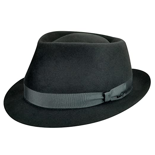 f49cf3349ccc3 Image Unavailable. Image not available for. Color  Bailey of Hollywood Men  Duffy Ii Trilby Black 6 7 8