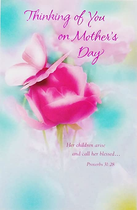 thinking of you on mothers day greeting card you are an angel in