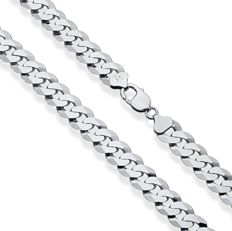 "18/"" 925 Sterling Silver Diamond Cut Rhodium Plated Trace Chain Free UK Post"