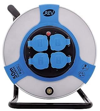 REV 0011118812 Base múltiple Exterior 50 m 4 Salidas AC Negro, Azul, Gris -