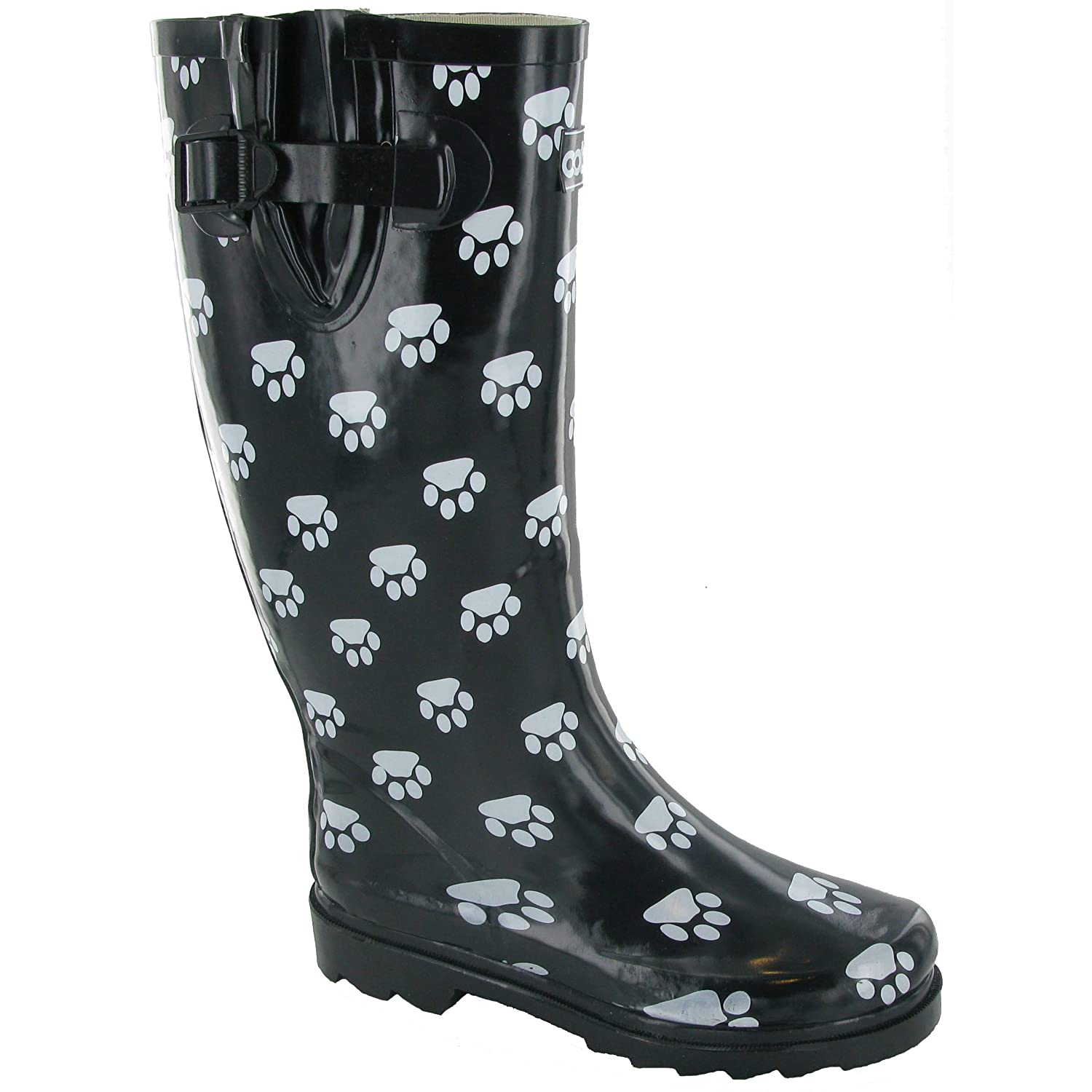 Cotswold Collection Dog Paw Welly / Womens Boots (8 US) (Black)