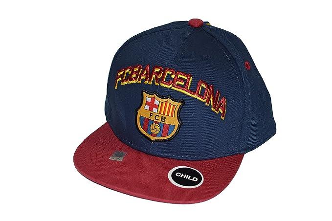Amazon.com  Fc Barcelona Snapback Child Kids Adjustable Cap Hat ... 404134a9b1f