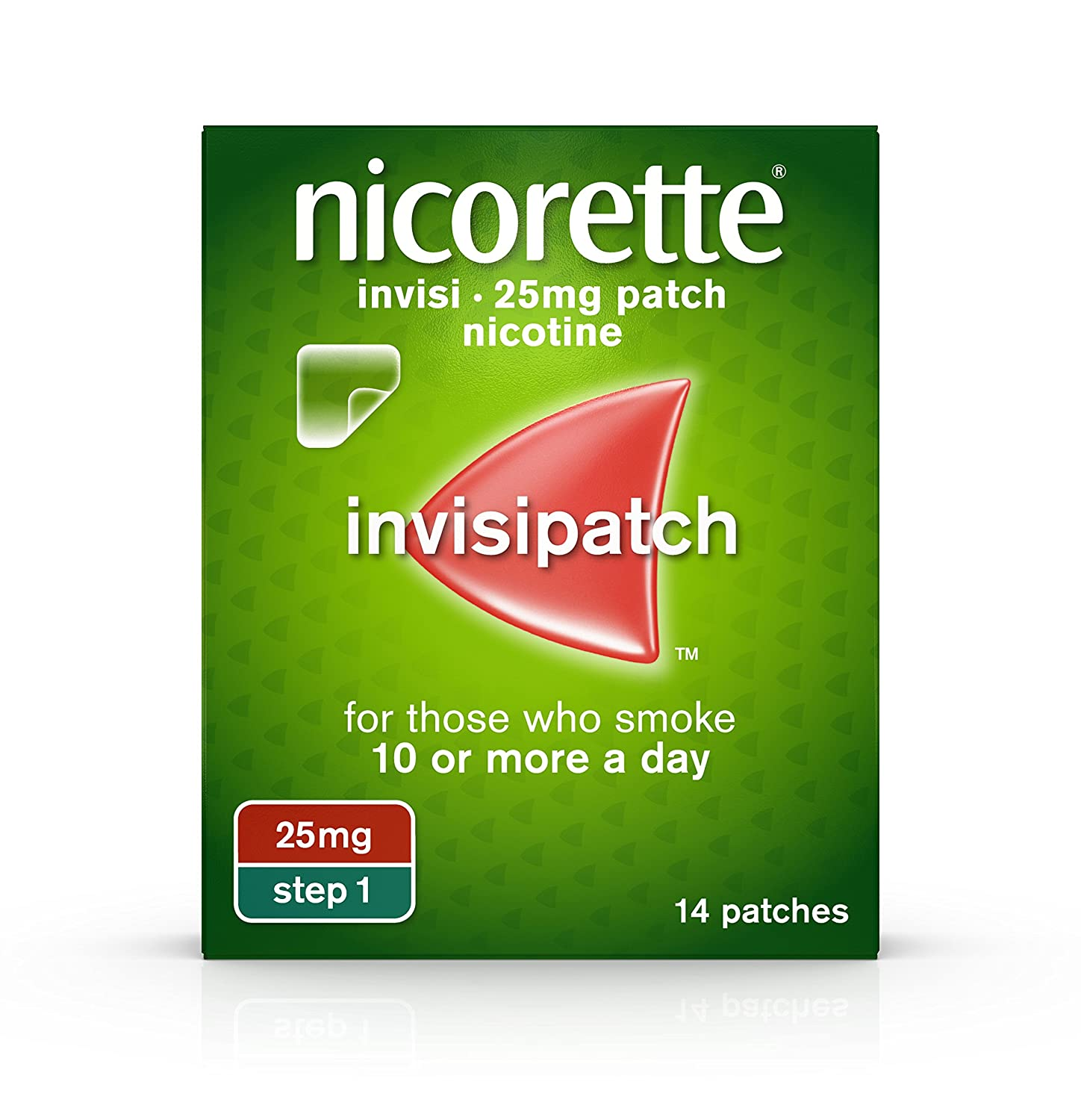 Nicorette Invisipatch Step 1 25 Mg 14 Nicotine Patches Stop Lt Pro Dual Function Dark 02r Gr Smoking Aid Health Personal Care