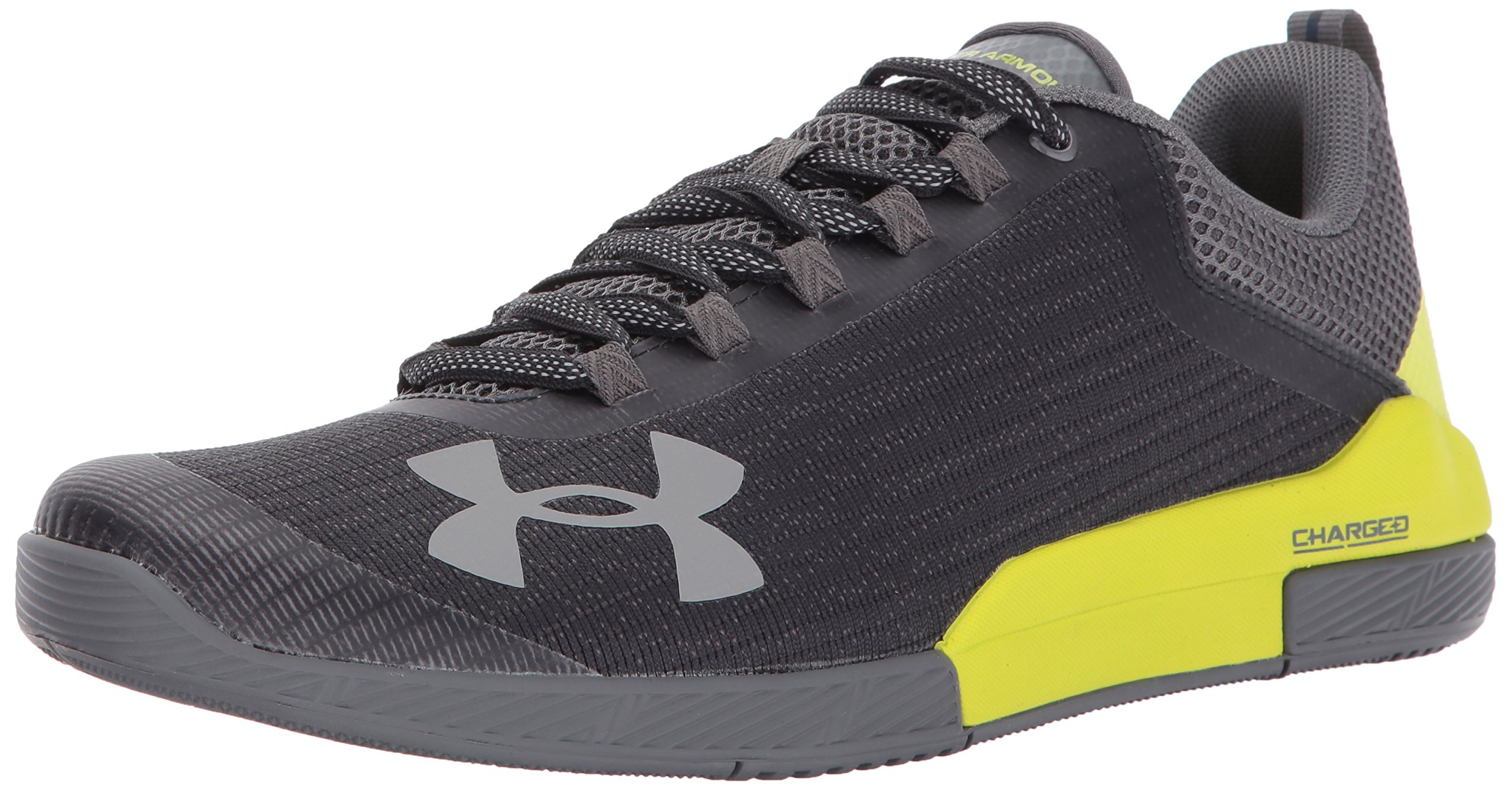 Under Armour Men's Charged Legend Sneaker, Anthracite (016)/Smash Yellow, 12